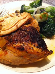 Spiced Rubbed Slow Cooked Chicken  #FastMetabolismDiet