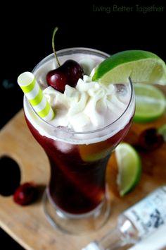 Hard Cherry Limeade | www.livingbettertogether.com
