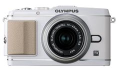 Olympus PEN E-P3 12.3 MP Live MOS Mirrorless Digital Camera with 14-42mm Zoom Lens (White) (Old Model) #OlympusDigitalCameras