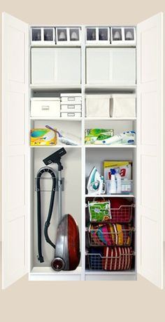 IKEA Pax system - this is what I was planning for landing with mirror doors hallway closet organization Hallway Closet, Hallway Storage, Ikea Storage, Laundry Room Storage, Laundry Room Design, Cupboard Storage, Closet Storage, Closet Organization, Kitchen Storage