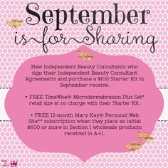 WOW...BE YOUR OWN BOSS...full-time or part-time, with support from a Corporate Company!  2016 SEPTEMBER SPECIAL! Contact me today!  562/843-0234; www.marykay.com/denine  #mymklife #marykay #reachforyourdreams #beyourownboss