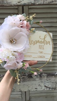 Ideas Baby Diy Nursery Newborns Photography Props For 2019 Baby Crafts, Diy And Crafts, Hospital Signs, Care Hospital, Floral Hoops, Creation Deco, Deco Floral, Diy For Girls, Gifts For Girls