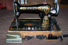1917 Singer 66 Red Eye Sewing Machine   eBay