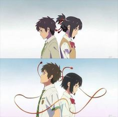 Your Name- Mitsuha and Taki Your Name Anime, Your Name Wallpaper, Anime Films, Animation, Mitsuha And Taki, Anime, Cartoon, Anime Drawings, Manga