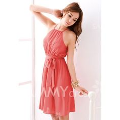 $7.22 Graceful Off-The-Shoulder Solid Color Chiffon Dress With Petticoat For Women