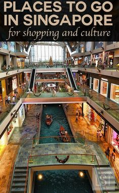 Places to go in Singapore for shopping and culture. Singapore is an urban marvel, with an intriguing personality like no other destination. And you don't have to venture far for luxury with hotels, shopping and some of the finest restaurants in Asia tempting more than 15 million visitors each year. Discover more reasons to fall in love with the Lion City with our travel highlights.