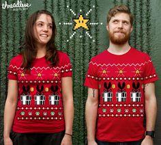 Super Mario themed Christmas Sweater  Shirt