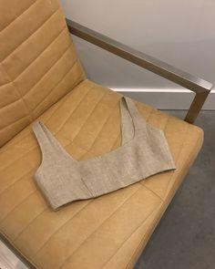 Paris Georgia Nina Bralette made from natural linen / Underwear Pattern, Bra Pattern, Crop Top Pattern, Classy Aesthetic, Aesthetic Clothes, Handmade Clothes, Diy Clothes, Diy Bra, Mother Denim