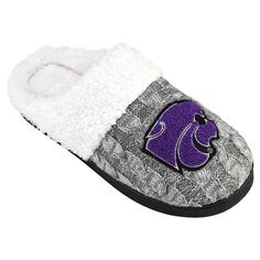 Women's Kansas State Wildcats Letter Slippers, Size: Small, Grey