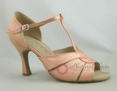 Natural Spin Basic Latin Shoes(Open Toe):  L1170-03_FleshES
