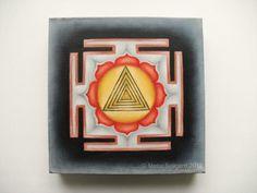 Shiva Yantra  oil painting spiritual art healing by GaneshasRat, $250.00
