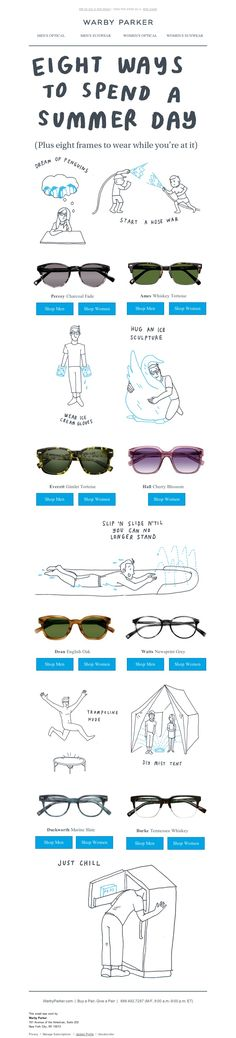 cool email from warby parker