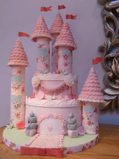 Floral castle cake