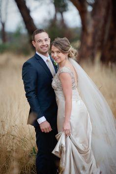 Pretty champagne wedding dress: http://www.stylemepretty.com/australia-weddings/victoria-au/2014/10/28/rainy-autumn-wedding-in-australia/ | Photography: Tigs Macallan - http://www.tigsmacallan.com.au/