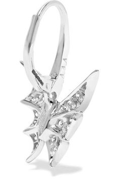 Fly By Night 18-karat White Gold Diamond Earrings - one size Stephen Webster YlV6qYCd