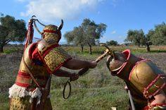 Fight between Mycaenean and Hittite warriors