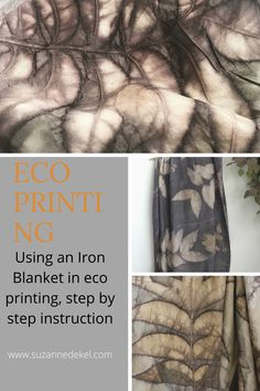 Learn how to improve your eco printing by employing an iron blanket. How to in easy steps! Sun Painting, Fabric Painting, Fabric Art, Arts And Crafts Projects, Crafts To Do, Shibori, How To Make Iron, Fabric Dyeing Techniques, Types Of Textiles