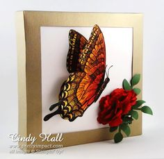 Stampin Up Swallowtail Stamp - OMG!! A WOW CARD!!! So Cool!!!