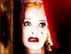 Bette Davis in What Ever Happened To Baby Jane.  Very Creepy!