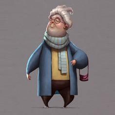 Cuddly granny.  #characterdesign