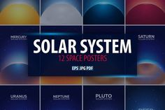 Solar System. Space posters by LeoEdition on @creativemarket