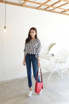 Great prices on stunning korean fashion ideas Korean Girl Fashion, Korean Fashion Trends, Korean Street Fashion, Ulzzang Fashion, Korea Fashion, Asian Fashion, Look Fashion, Fashion Outfits, Fashion Hacks