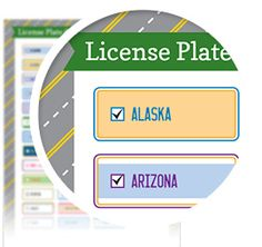 License Plate Game! - One of the games we always played as a kid on road trips was the license plate game! In the car you would write down all of the license plate states you see on your road trip!