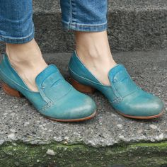 bliss blog - i heart tuesday: moma turquoise loafers from a mano