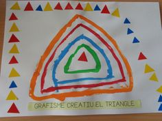Grafisme creatiu: el triangle Craft Activities For Kids, Preschool Activities, Motor Activities, Triangle Art, Do A Dot, Pre Writing, Diy Crafts Videos, Art For Kids, Kindergarten