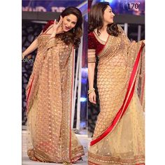 Madhuri Dixit on jhalak dikhla jaa set in Beautiful Saree