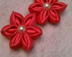 kanzashi flower ribbon rose tutorial diy - Buscar con Google