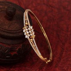 Gemstone Bracelet jewellery for Women by jewelegance. ✔ Certified Hallmark Premium Gold Jewellery At Best Price Gold Ring Designs, Gold Bangles Design, Gold Earrings Designs, Gold Jewellery Design, Designer Jewelry, Gold Bracelet For Women, Gold Bracelet Indian, Antique Bracelets, Gold Jewelry Simple