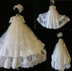 Infant Enchanting Christening Gown Lace Applique With Bonnet 2017 Baptism Dress   Clothing, Shoes & Accessories, Baby & Toddler Clothing, Christening   eBay!