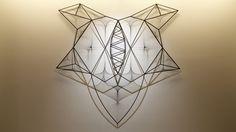 Kanata Goto, Consciousness Image, metal,polyester threads, 258x248x17cm, 2016