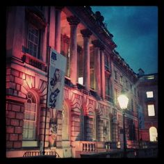 somerset house at night in london