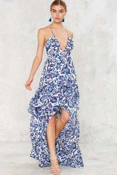 The Jetset Diaries Indigo Jungle Maxi Dress
