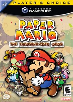 Paper Mario: The Thousand-Year Door (Nintendo), GameCube; role-playing video game developed by Intelligent Systems & published by Nintendo, it is the game in the Paper Mario series. The player controls Mario, although Bowser & Princess Peach are playa Gamecube Controller, Gamecube Games, Nintendo Games, Wii Games, Nintendo 64, Arcade Games, Advance Wars, Metroid, Paper Mario 2