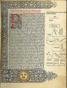 Erhard Ratdolt - geometriae elementa 1482