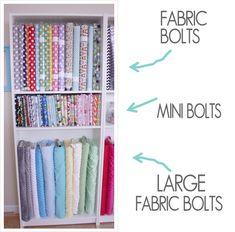 Craft Room Storage, Fabric Storage, Wall Storage, Craft Organization, Organizing, Storage Ideas, Sewing Room Design, My Sewing Room, Sewing Rooms
