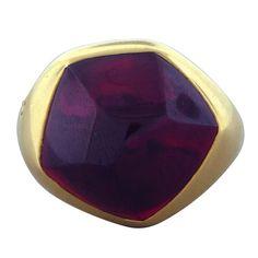 POMELLATO Gold Garnet Ring at 1stdibs