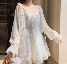 Cute Casual Outfits, Pretty Outfits, Pretty Dresses, Dress Casual, Fairytale Dress, Fairy Dress, Fairytale Fashion, Kawaii Fashion, Cute Fashion