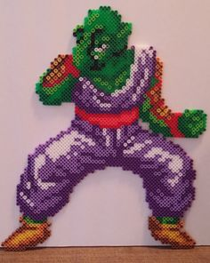 Piccolo Dragon Ball Z perler beads by MeltyCreations