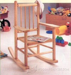 Childs Rocking Chair Plans - Children's Furniture Plans and Projects   WoodArchivist.com