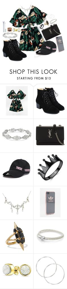 """""""Summer Time"""" by simonebaird ❤ liked on Polyvore featuring Yves Saint Laurent, adidas, Noir Jewelry, Pandora, Bling Jewelry and MILK MAKEUP"""