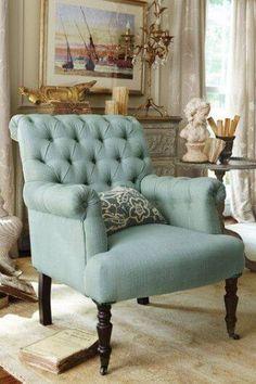 Duck egg armchair