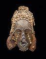 BUSHOONG-KUBA MASKE Kongo. H 27 cm (ohne Textil).  © Galerie Walu - African Art Auctions