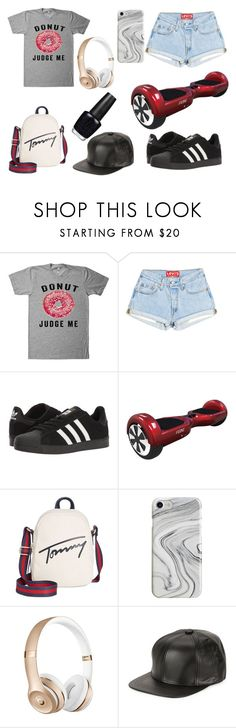 """""""HOVERBOARD"""" by ghetaudorina on Polyvore featuring adidas, Tommy Hilfiger, Recover, Marcus Adler and OPI"""