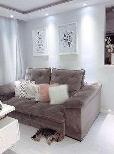 (notitle) - Home - Living Room Decor Cozy, Small Living Rooms, Home Living Room, Small Apartment Interior, Small Apartment Decorating, House Rooms, House Beds, Home Room Design, House Design