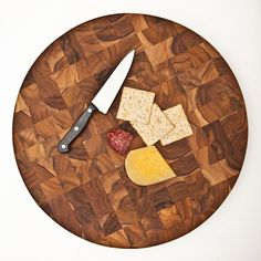 Teak Circle Cutting Board  $140.00  This large, end-grain Teak Circle Cutting Board is a stunning addition to any counter or tabletop. Even ...