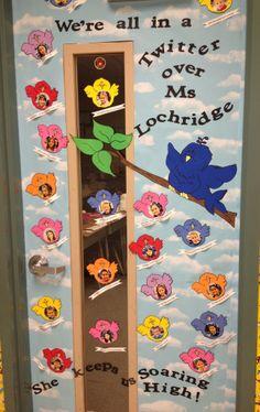 Classroom door decoration for Teacher Appreciation.